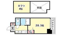 EC神戸県庁前Ⅲフィエルテ[12階]の間取り