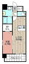 CLUB博多駅南レジデンス[701号室]の間取り