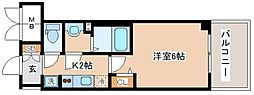 JR山陽本線 兵庫駅 徒歩10分の賃貸マンション 13階1Kの間取り