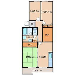 横尾団地[2階]の間取り