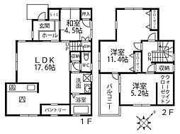 上野西3丁目戸建 3LDKの間取り