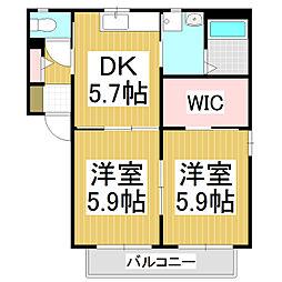 メゾン・ド・ソレーユA棟[1階]の間取り