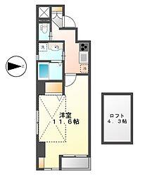 カーサルカ(casa luca[9階]の間取り