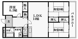 久出川第3マンション[1階]の間取り