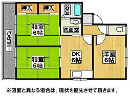福岡県直方市大字知古の賃貸アパートの間取り