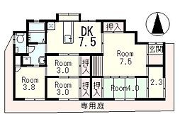 ライフハウス鳥居川[1階]の間取り