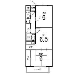 アフリー太田II[1階]の間取り