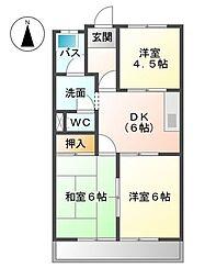 加藤シティハイツ[3階]の間取り