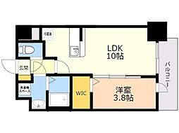 ビリーヴ ルーム 4階1LDKの間取り