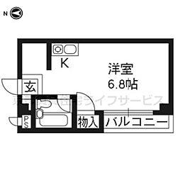 京都参番館[101号室]の間取り