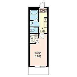 サンボナール[1階]の間取り