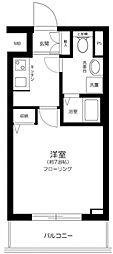 東京メトロ有楽町線 新富町駅 徒歩4分の賃貸マンション 14階1Kの間取り
