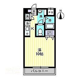 香川県高松市多賀町3丁目の賃貸マンションの間取り