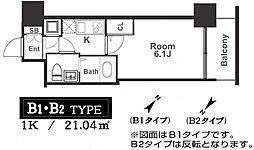 アドバンス西梅田ラシュレ[6階]の間取り