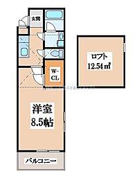 エトワール喜里川[2階]の間取り