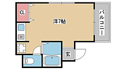 兵庫県神戸市中央区旭通2丁目の賃貸マンションの間取り