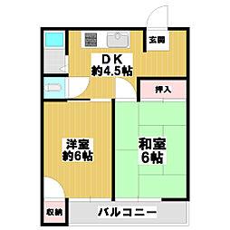 奥田マンション[3階]の間取り