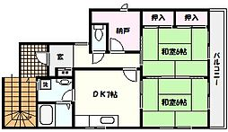 兵庫県芦屋市茶屋之町の賃貸アパートの間取り