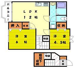 オレンジペコI[2階]の間取り