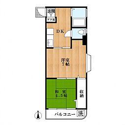マコトマンション[2階]の間取り