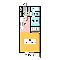 名駅オータケビル[3階]の間取り