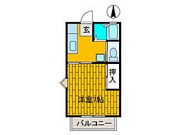 リベラルハイム[2階]の間取り