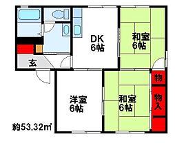 ファミリー坂・富[G102号室]の間取り