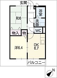 エステートKakeda A[2階]の間取り