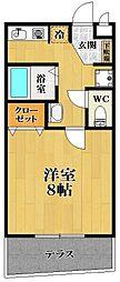 メゾンクレア[1階]の間取り