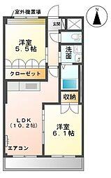 愛知県名古屋市守山区小六町の賃貸マンションの間取り
