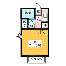 ラシーヌ美津乃[1階]の間取り