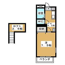 HIコーポ・5[1階]の間取り