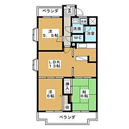 コンフォ・トゥールII[2階]の間取り