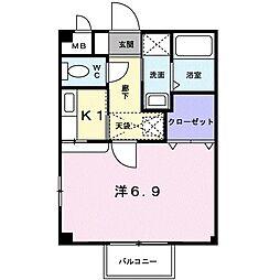 フルスハイム[2階]の間取り