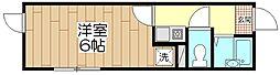 オペラシオンボヌール竹の塚[201号室]の間取り