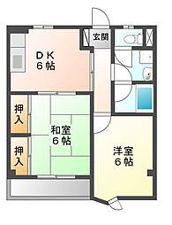 三鈴ハイム[1階]の間取り