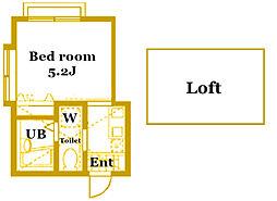 モンステラ妙蓮寺[2階]の間取り