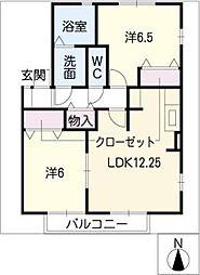 レジデンス黒沢台[2階]の間取り