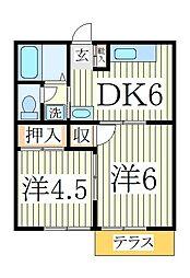 第6ドリームコーポ[1階]の間取り
