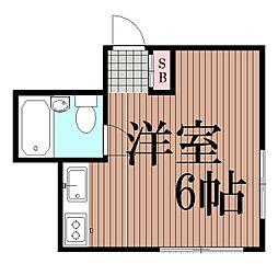 東京都大田区中馬込1丁目の賃貸アパートの間取り