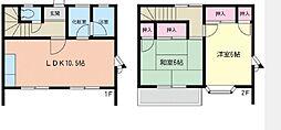 [テラスハウス] 神奈川県藤沢市辻堂元町2丁目 の賃貸【神奈川県 / 藤沢市】の間取り
