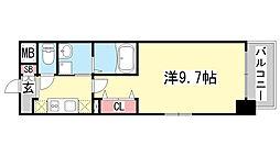 兵庫県神戸市中央区日暮通1の賃貸マンションの間取り