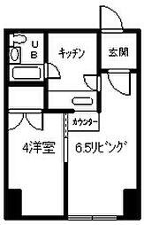 北海道旭川市四条通5の賃貸マンションの間取り