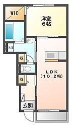 シャンティアII[1階]の間取り