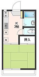 ハイツ宮崎I[2階]の間取り