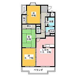 プレサージュ K[2階]の間取り