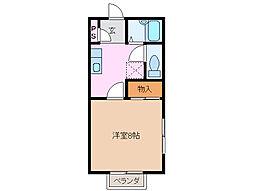 コーポ花野[1階]の間取り
