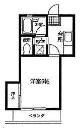 ヒルサイドハウス[1階]の間取り