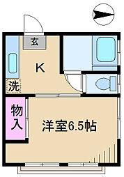 東京都北区豊島1丁目の賃貸アパートの間取り
