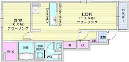 仙台市地下鉄東西線 八木山動物公園駅 徒歩28分の賃貸アパート 1階1LDKの間取り